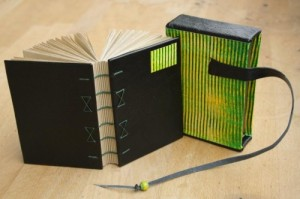 Coptic bound journal in a slipcase