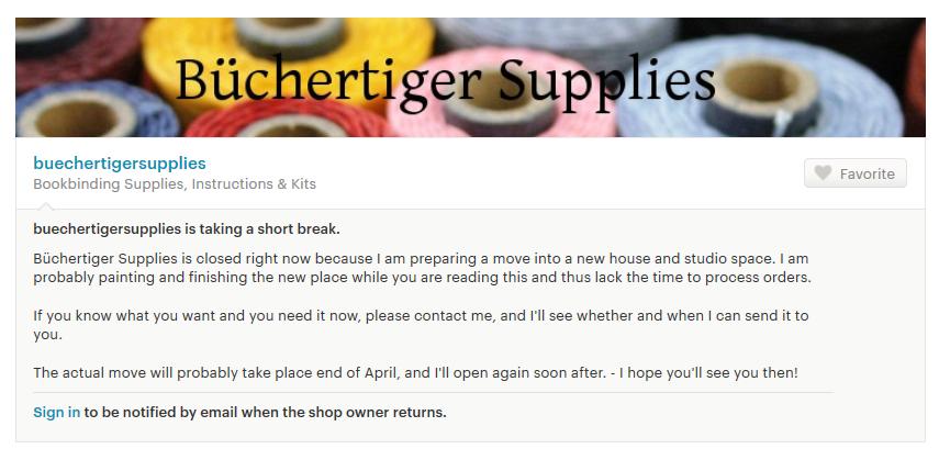 buechertigersupplies closed