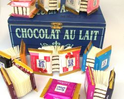 mini books with covers from miniature chocolates
