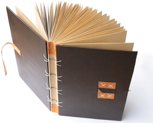 leatherbound blank book