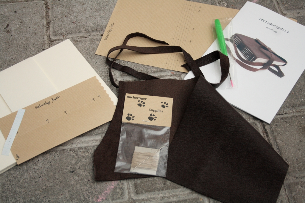 contents of simple leather kit